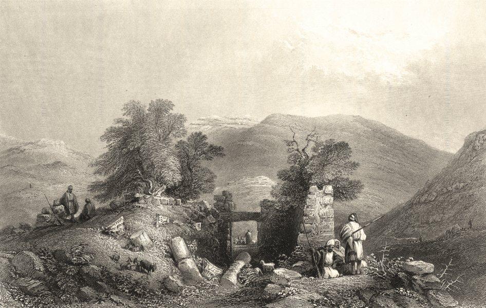 ISRAEL. Palestine. Church at Shiloh (ruins) . (Bartlett) 1847 old print