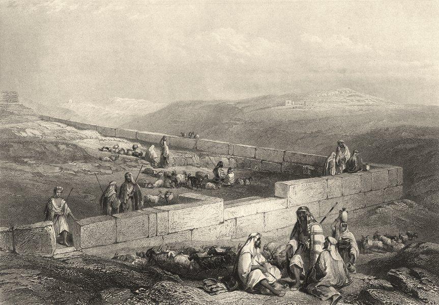 Associate Product ISRAEL. Palestine. 'Ancient Masonry Hebron. Shepherds. Goats.  1847 old print