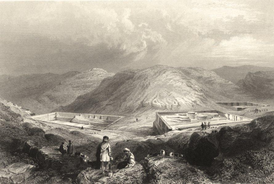 Associate Product ISRAEL. Palestine. Solomon's Pools near Bethlehem. (Bartlett) 1847 old print