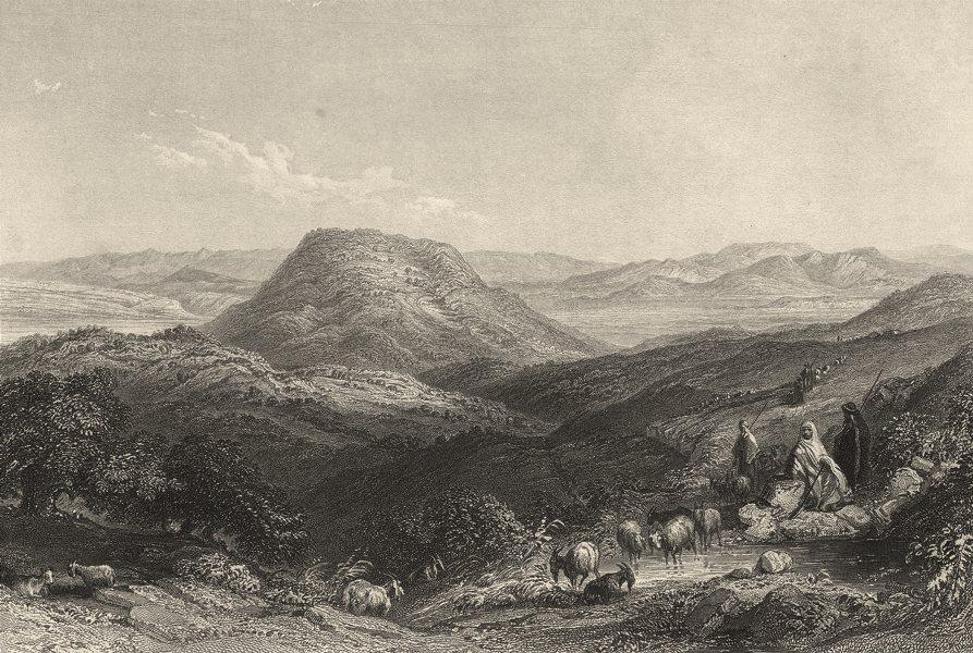 Associate Product ISRAEL. Palestine. Mount Tabor, towards Gilboa & the Jordan. (Bartlett) 1847