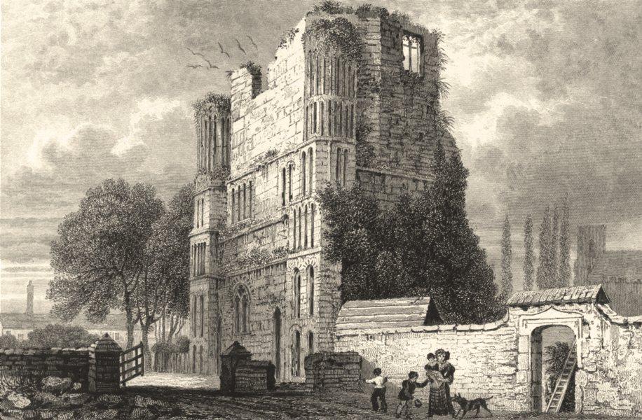 Associate Product KENT. Malling Abbey. Kent. (Bartlett) 1828 old antique vintage print picture