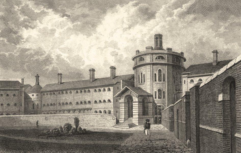Associate Product KENT. The Gaol, Maidstone, Kent. Allen 1828 old antique vintage print picture