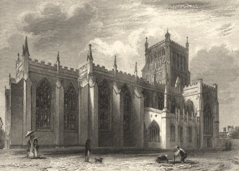 Associate Product BRISTOL. Bristol Cathedral North East View. (Winkles) 1836 old antique print