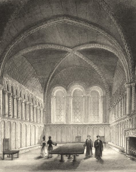 BRISTOL. Bristol Cathedral Chapter House. (Winkles) 1850 old antique print
