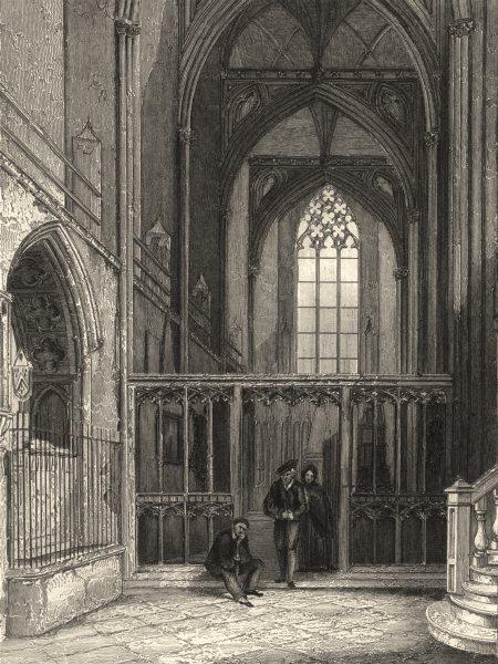 Associate Product BRISTOL. Bristol Cathedral 1850 old antique vintage print picture