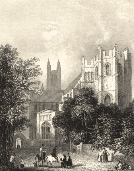 Associate Product KENT. Canterbury Cathedral East- End. (Winkles) 1836 old antique print picture