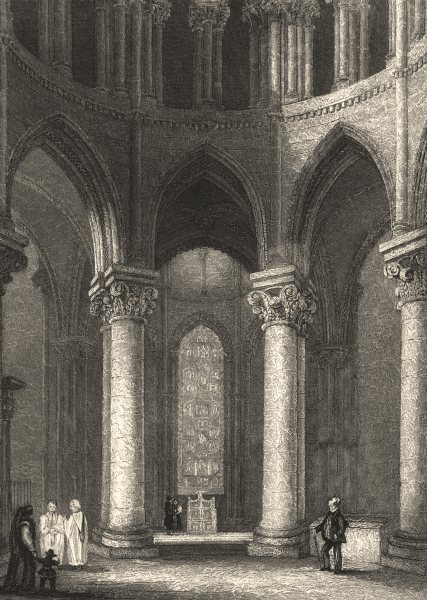 Associate Product KENT. Canterbury Cathedral Becket's Crown. (Winkles) 1836 old antique print