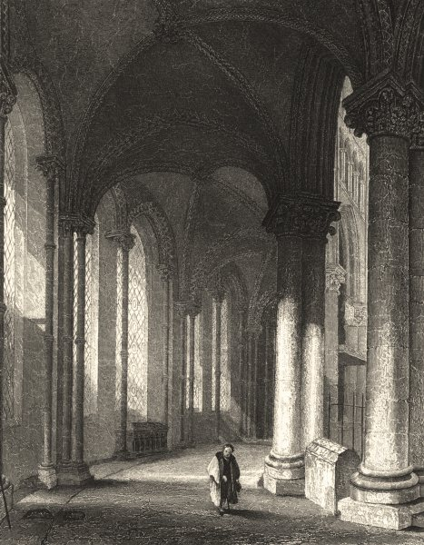 Associate Product KENT. Canterbury cathedral view from Trinity Chapel. Looking west.  1836 print