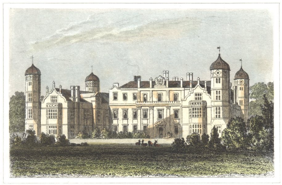 Associate Product KENT. Cobham Hall. The seat of Earl Darnley. Hand coloured. (Dugdale) 1835