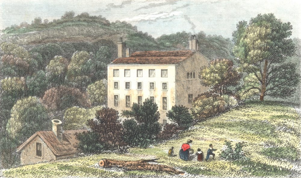 Associate Product KENT. Quebec House. The birthplace General Wolfe. Westerham. (Dugdale) 1835