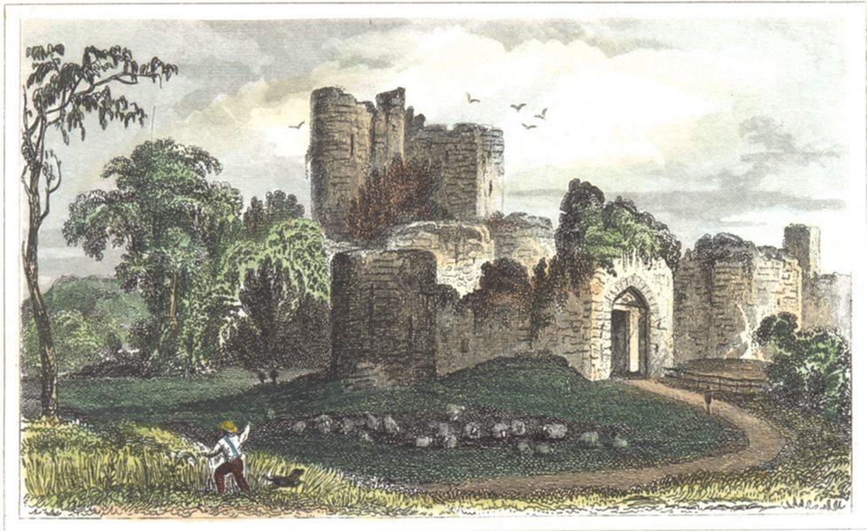 Associate Product KENT. Saltwood Castle. Hand coloured (Dugdale) 1835 old antique print picture