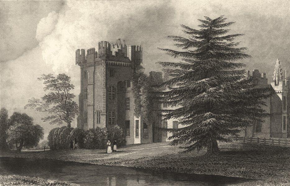 Associate Product ESSEX. Faulkboum Hall. Near Whitham. (Bartlett/Wright) 1834 old antique print