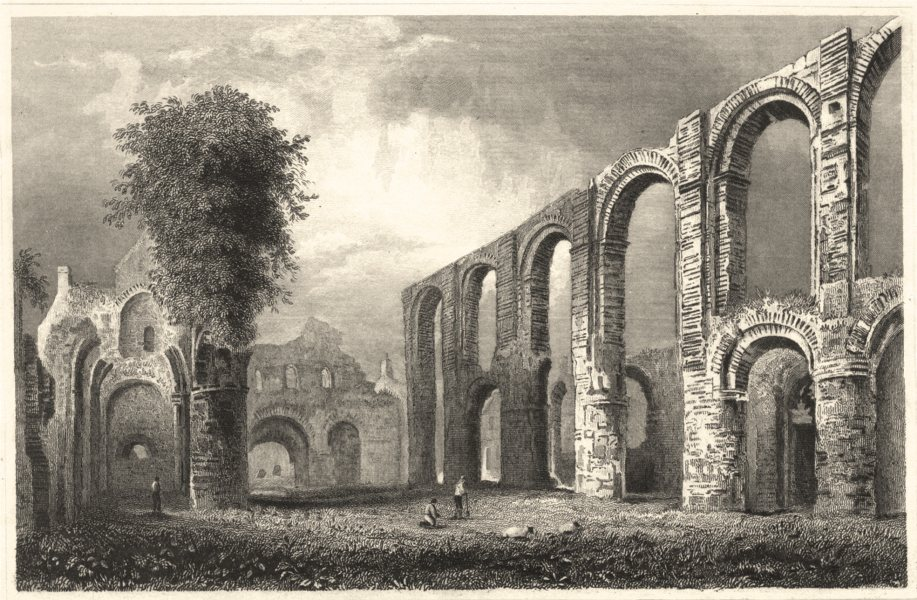 Associate Product ESSEX. St Botolphs Priory Church. Colchester. (Bartlett/Wright) 1834 old print