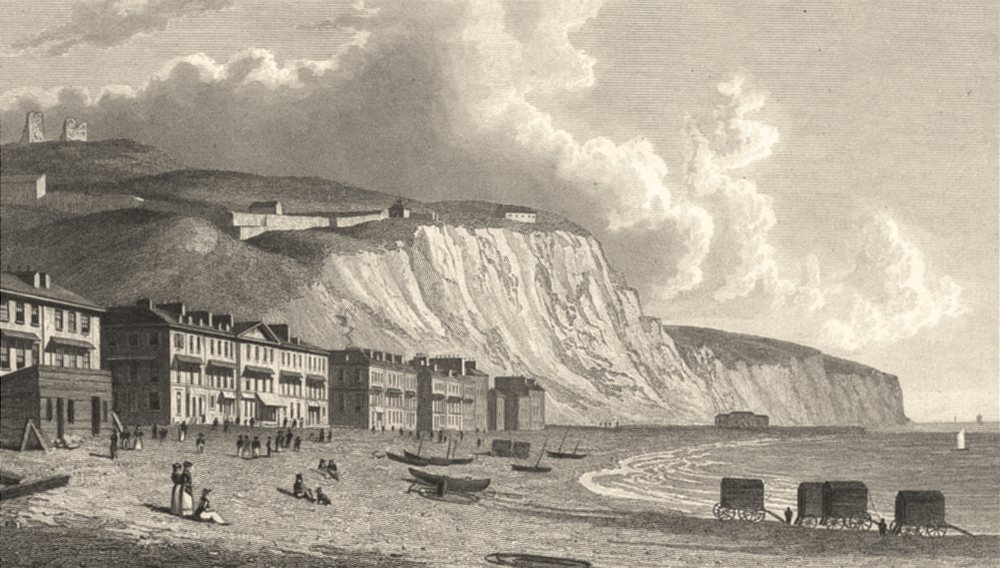 Associate Product KENT. Dover from the Beach. Good Steel engraved view. (Westall) 1832 old print