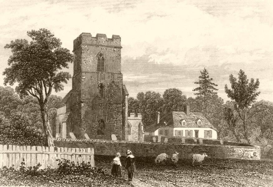 Associate Product HONINGTON. Birthplace of Robert Bloomfield. Suffolk. DUGDALE c1840 old print