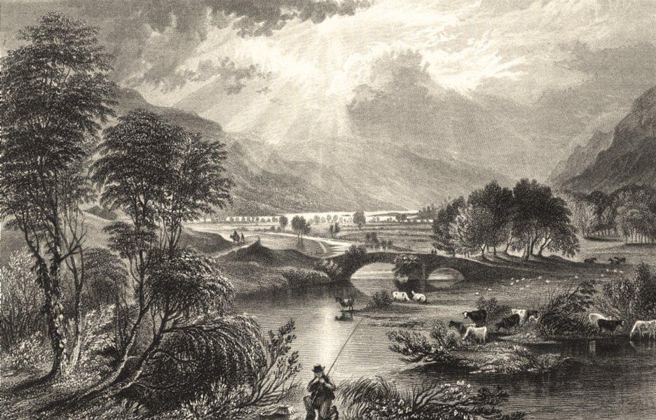 Associate Product CUMBRIA. Goldrill Beck and Ullswater. Cumberland (Allom) 1832 print