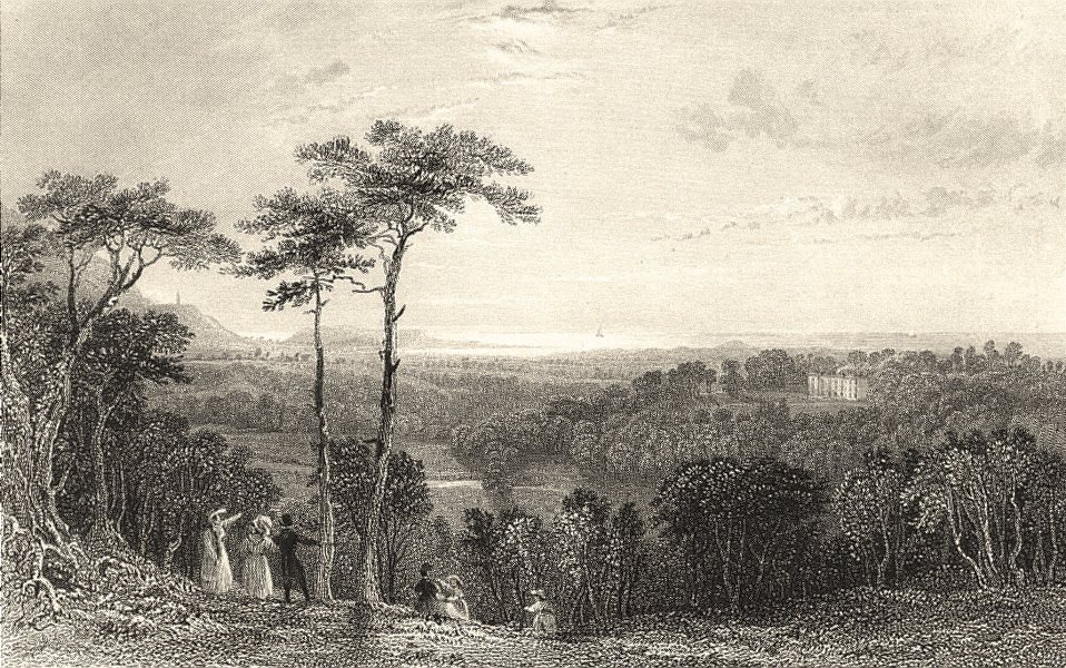 Associate Product CUMBRIA. Holme Hall near Ravenglass. Figures. Cumberland. (Allom) 1832 print