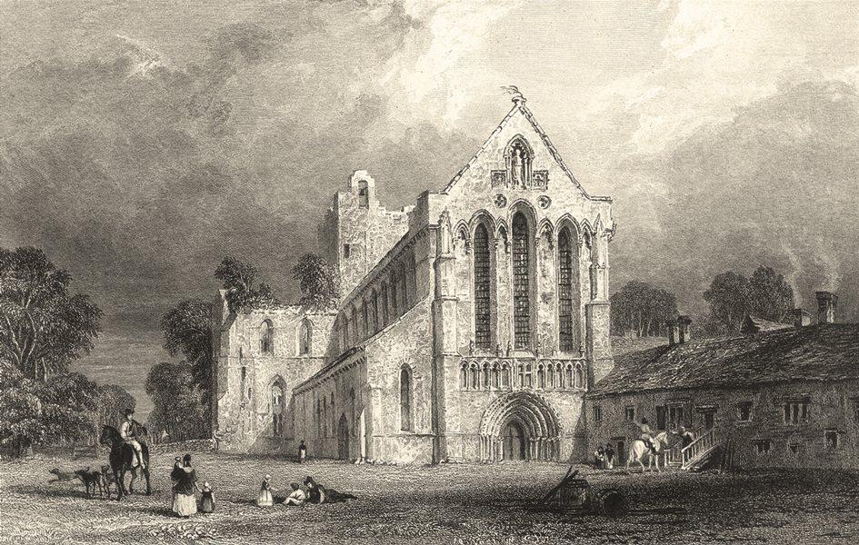 Associate Product CUMBRIA. Lanercost Priory. Children. Horses. Cumberland. (Allom) 1832 print
