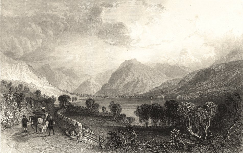 Associate Product CUMBRIA. Loweswater from Water End. Horse & Cart. Cumberland. (Allom) 1832