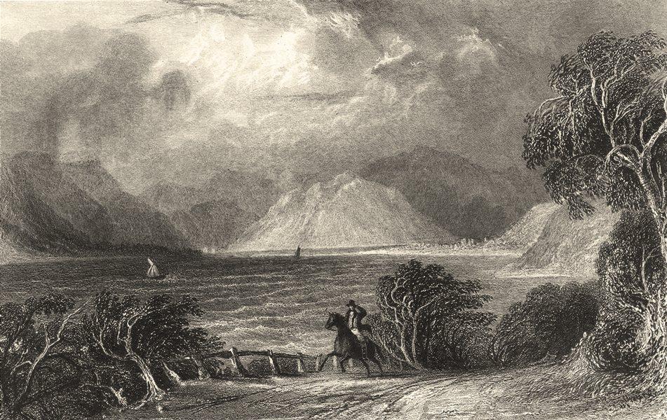 Associate Product CUMBRIA. Ullswater Pooly Bridge. Figures Riding Horse.  1832 old antique print