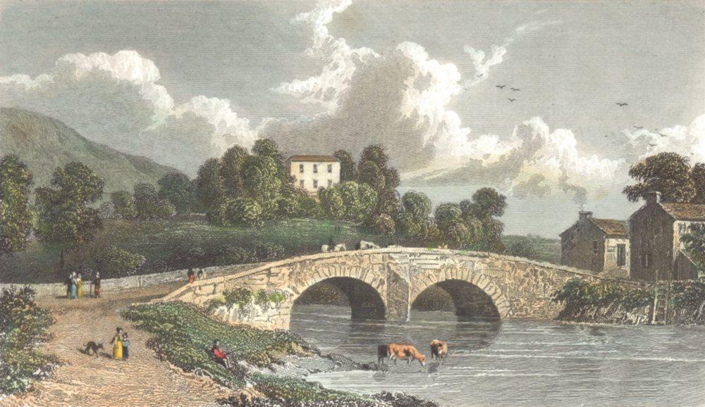 Associate Product CUMBRIA. Cumbs Greta Hall and Keswick Bridge. Hand coloured. (Westall) 1830
