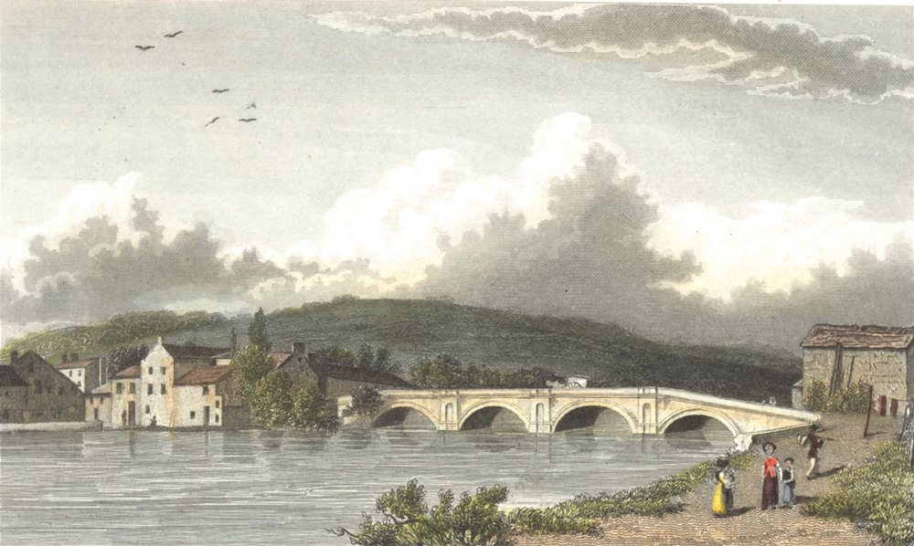 Associate Product CUMBRIA. Cumbs Strammongate bridge Kendal. . (Finden/Westall) 1830 old print