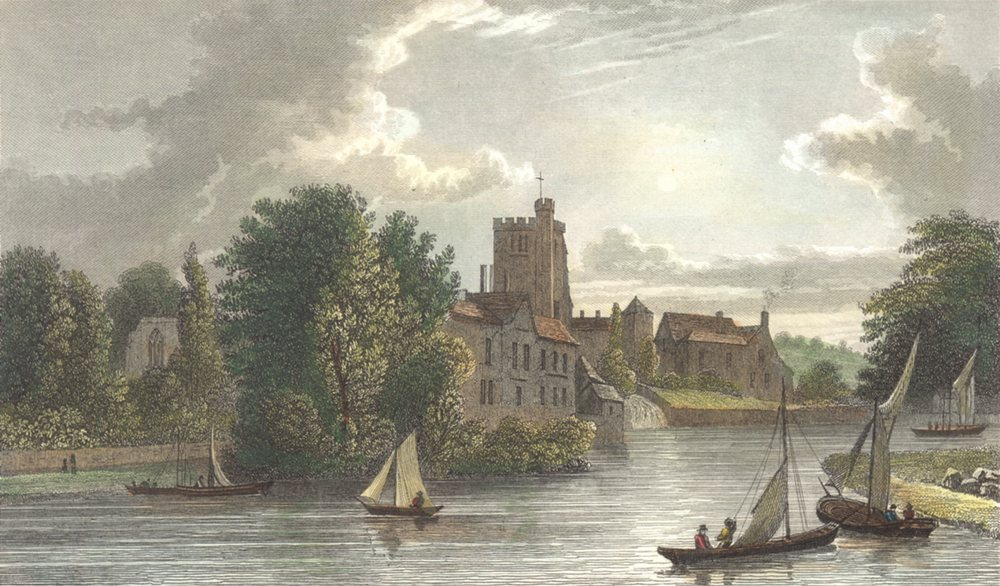 Associate Product KENT. Kent View from Maidstone Bridge. Hand coloured. (Westall) 1830 old print