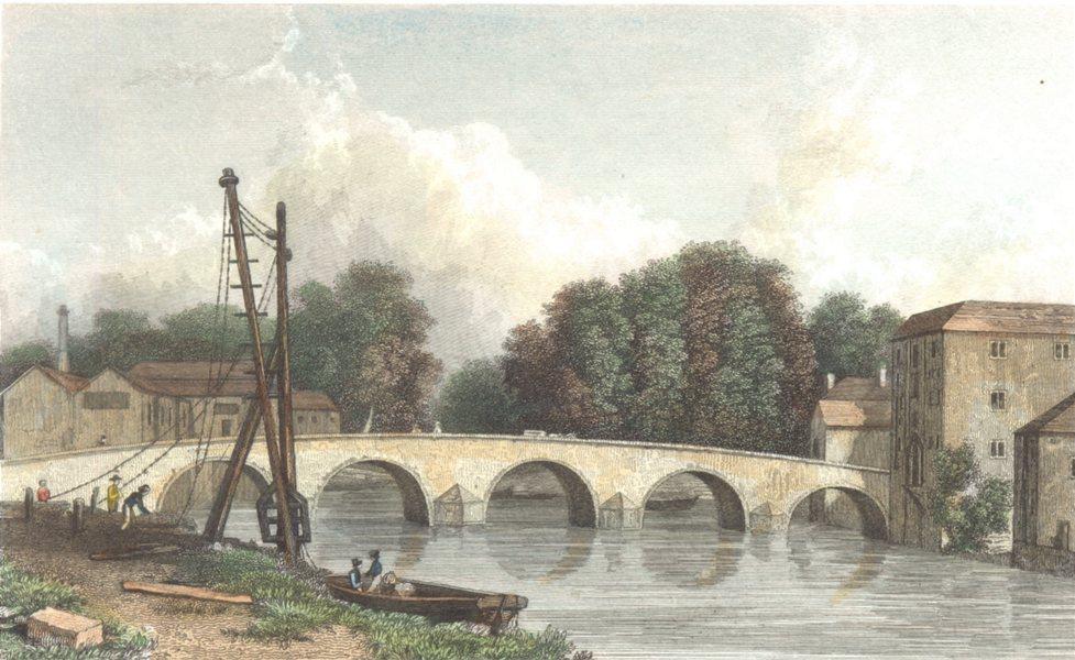Associate Product KENT. Maidstone Bridge. (Finden/Westall) 1830 old antique print picture