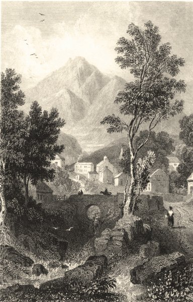 Associate Product CUMBRIA. Cumbs. Skiddaw from Applethwaite. (Allom) 1832 old antique print