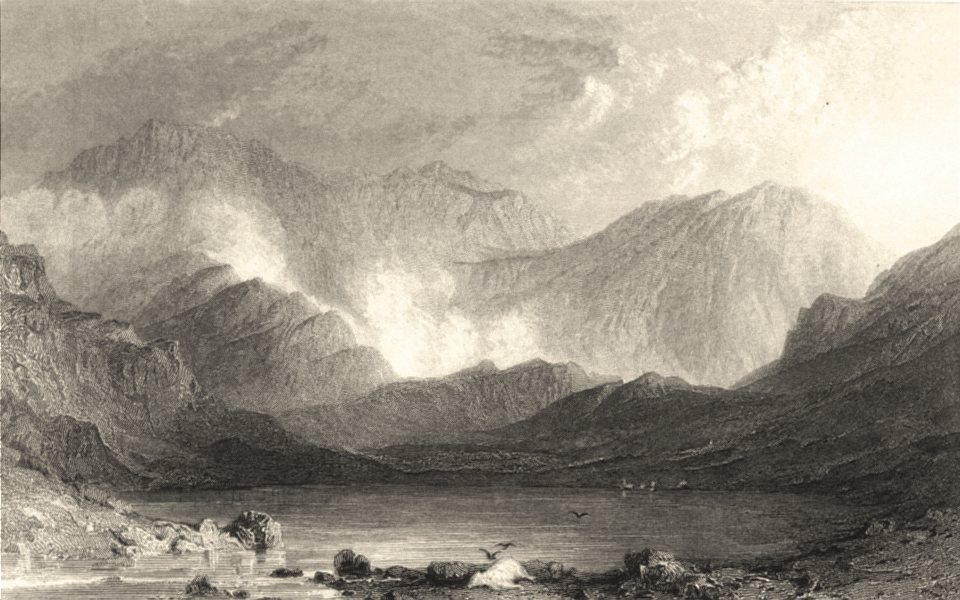Associate Product CUMBRIA. Cumbs. Sty Head Tarn. Good Landscape. Cumberland. (Allom) 1832 print