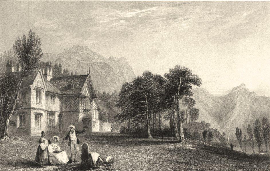 Associate Product CUMBRIA. Cumbs . Wasdale Hall. Figures. Cumbs.  1832 old antique print picture