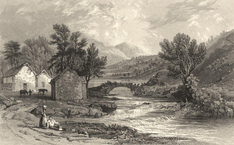 Associate Product CUMBRIA. Cumbs. Watenlath & the Stream of Lodore. Cumberland. (Allom) 1832