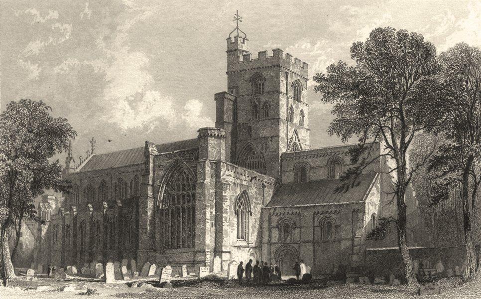 Associate Product CARLISLE. Cumbs. cathedral. Figures in Churchyard. Cumberland. (Allom) 1832