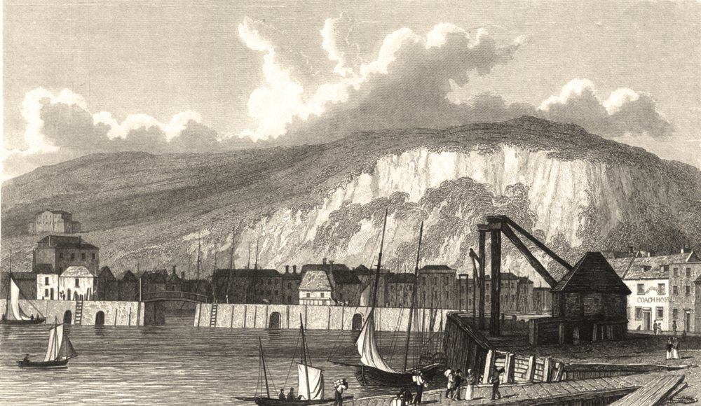 Associate Product KENT. Landing Place Dover. (Finden/Westall) 1830 old antique print picture