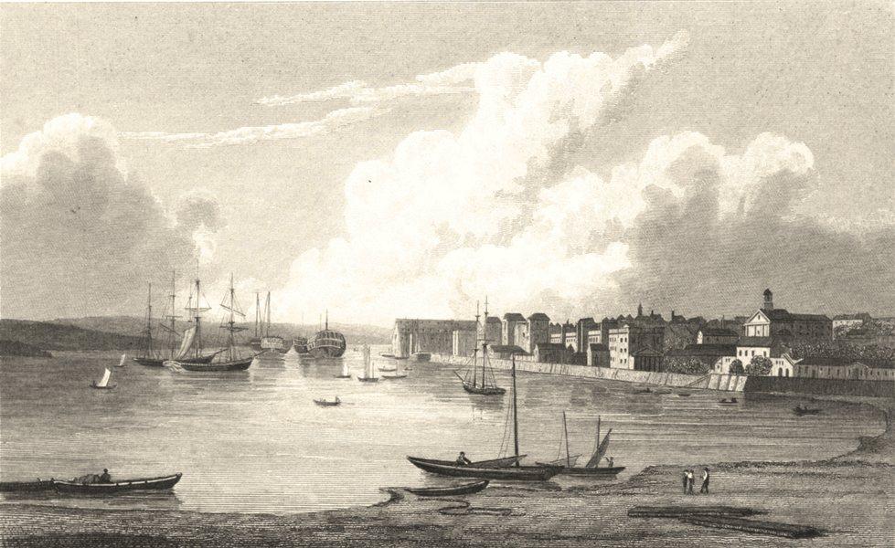Associate Product KENT. Chatham. (Finden/Westall) 1830 old antique vintage print picture