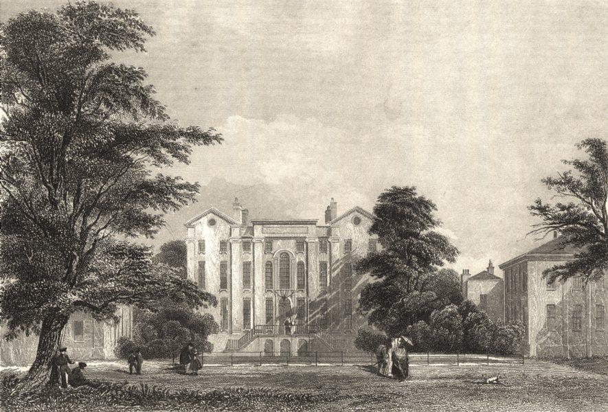 Associate Product LONDON. Surrey. Croydon Addiscomb College. Prichett. Fine street view.  1835