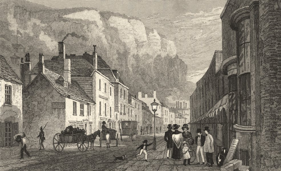 Associate Product KENT. Snargate Street, Dover. Busy Scene.  1830 old antique print picture