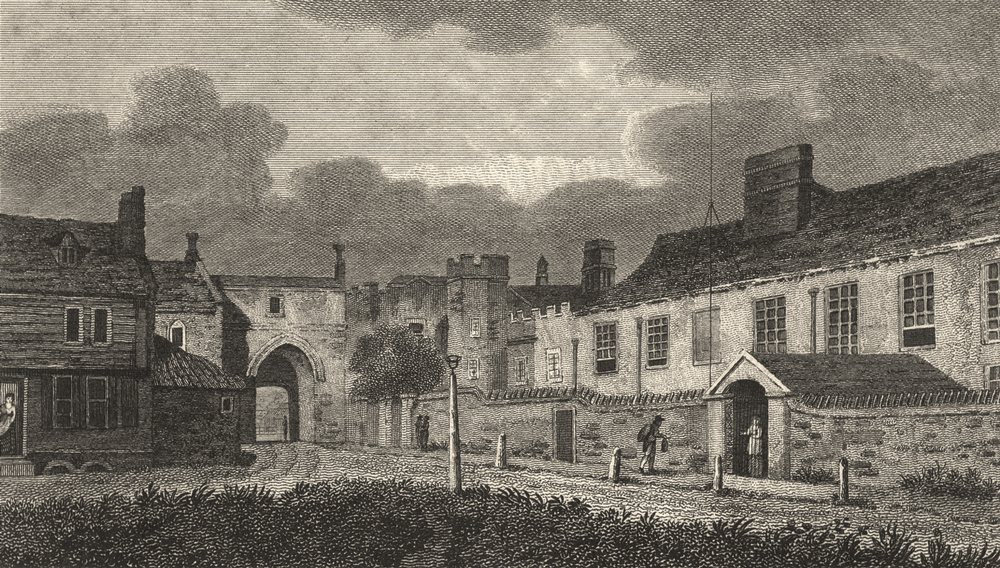 SURREY. Sheen Palace. Attractive Copperplate (Hughson) 1805 old antique print