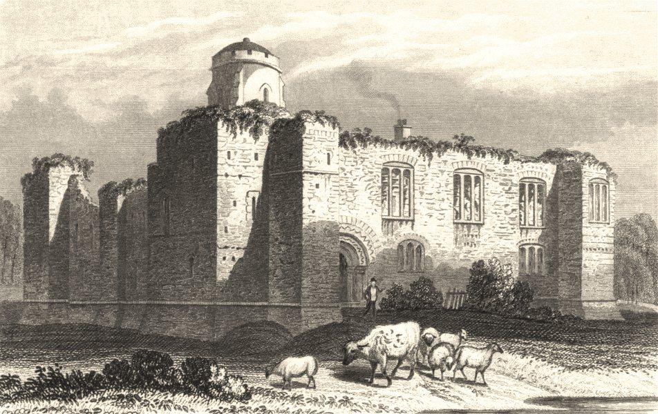 Associate Product ESSEX. Colchester Castle, Essex c1840 old antique vintage print picture