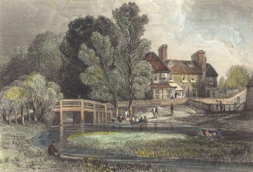 Associate Product ESSEX. Hillyers Bridge 1840 old antique vintage print picture