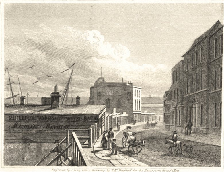 Associate Product KENT. Margate. Good small view 1822 old antique vintage print picture