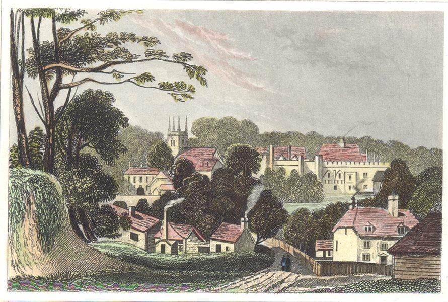 KENT. Kent Penshurst. Hand coloured. (Dugdale) c1840 old antique print picture