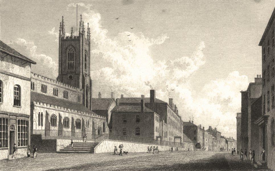 Associate Product LANCASHIRE. Preston, Lancashire. (Finden/Westall) 1834 old antique print