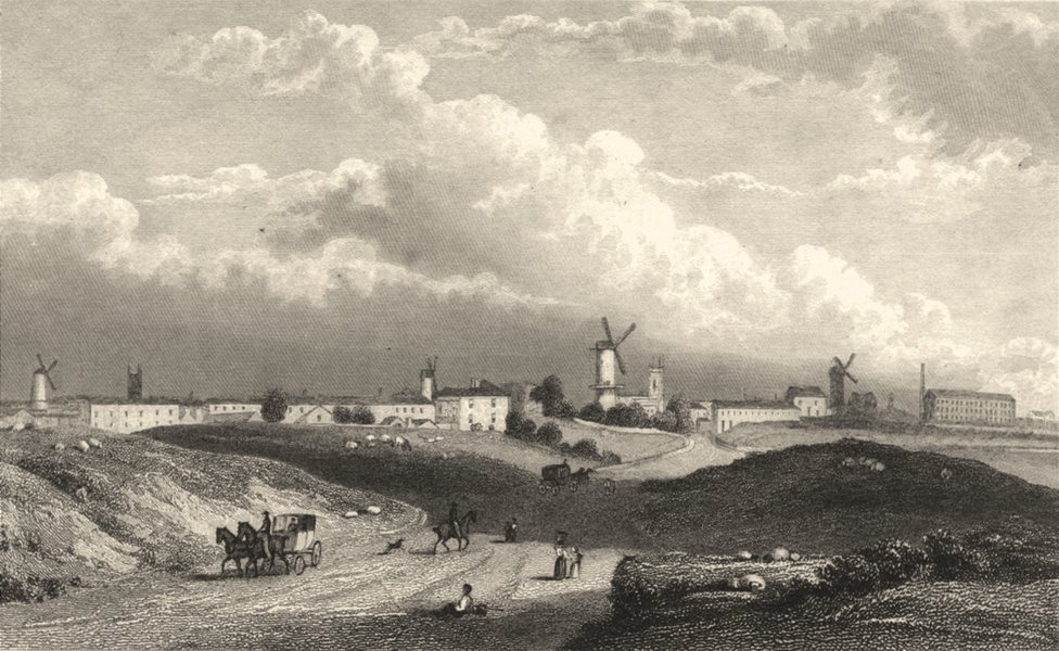 Associate Product LANCASHIRE. Preston, from the North. (Finden/Westall) 1834 old antique print