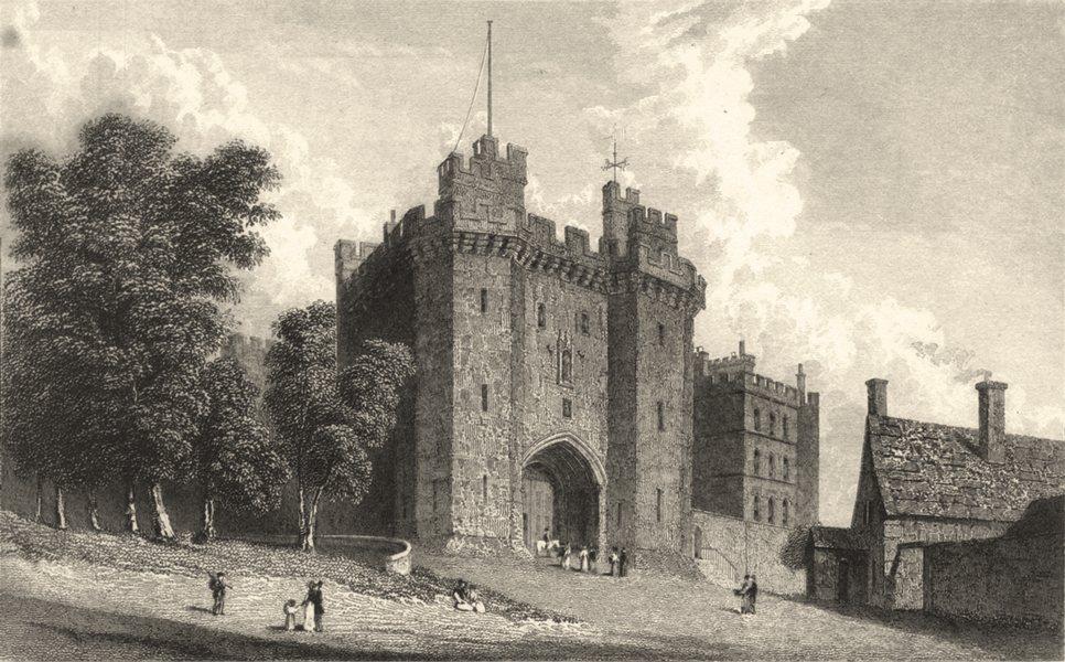 Associate Product LANCASHIRE. Lancaster Castle (Westall) 1834 old antique vintage print picture