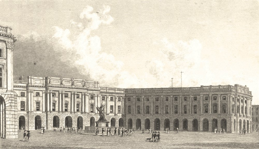 Associate Product LIVERPOOL. The Exchange and Nelson's Monument, Liverpool (Westall) 1834 print