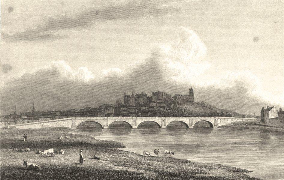 Associate Product LANCASHIRE. New Bridge, Lancaster (Westall) 1834 old antique print picture