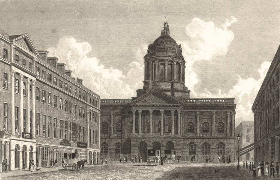 Associate Product LIVERPOOL. Town Hall and Mansion House, Liverpool. (Finden/Westall) 1834 print