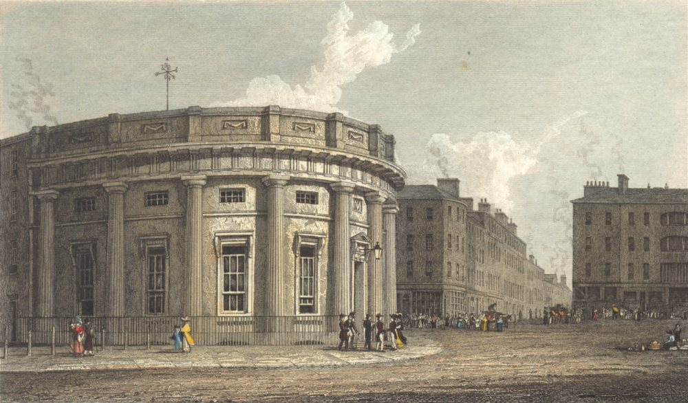 Associate Product MANCHESTER. Commercial Room Manchester. Westall Hand coloured. Finden 1830