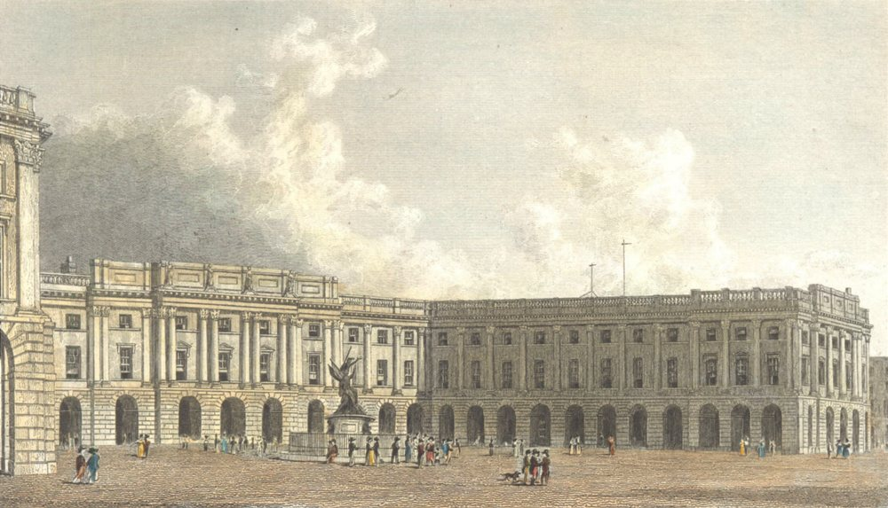 Associate Product LIVERPOOL. The Exchange and Nelson's Monument. Hand coloured. (Westall) 1830